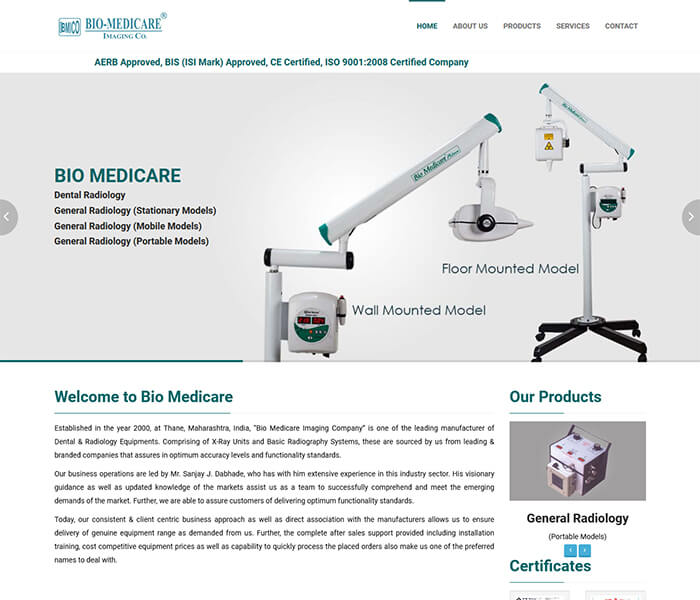 biomedicare Web design and development