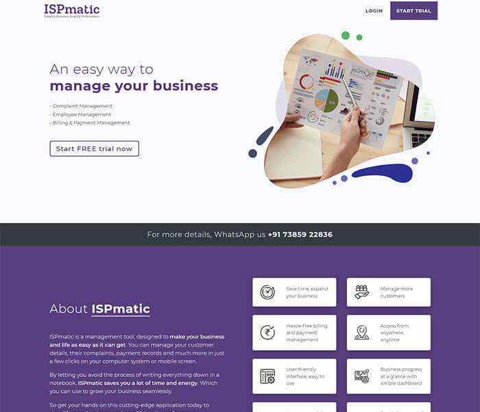 ispmatic Website and web application